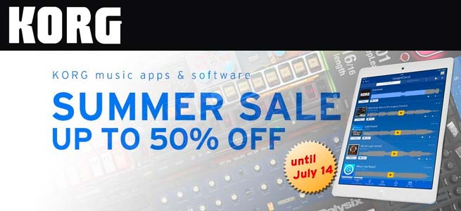 KORG Music Apps & Software Summer Sale this July